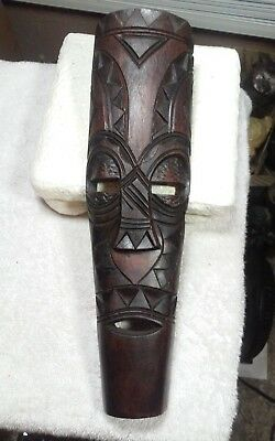 Interesting carved wooden wall sculpture,mask Modernist African? South pacific?