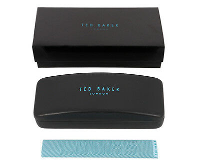 Ted Baker Black & Blue Glasses Case & Blue Cleaning Cloth - Brand New & Boxed