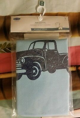 OLD NAVY Baby Boy Blue Pick Up Truck Graphic Sleep Set Pajamas Size 3T NEW