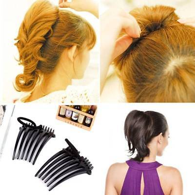 2 Volume Inserts Hair Clip Bumpits Bouffant Ponytail Hair Comb Hair Rope Supply