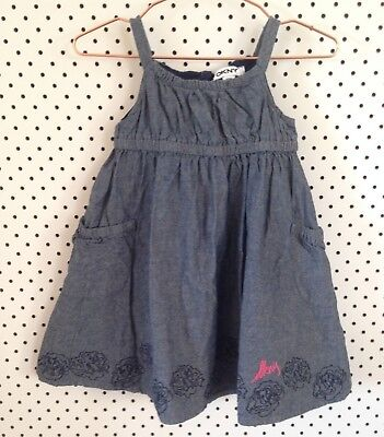 DKNY Baby Girls Denim Dress Size 12 Months