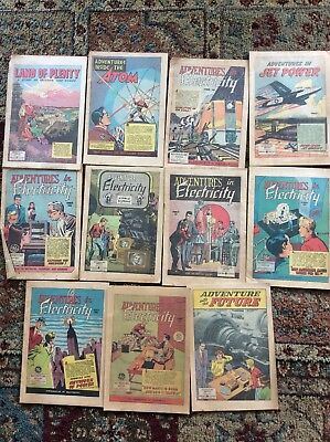 Lot of 12 General Electric Adventure in Science Series Comic Book 1960's