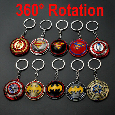 3D Keychain Super Hero Superman SpiderMan Ironman BatMan Captain Key Chain Ring