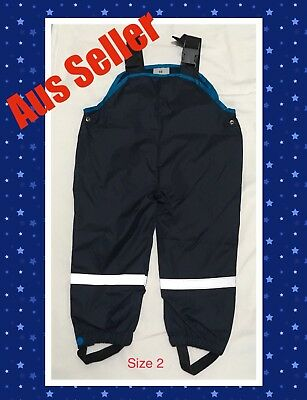 New Kids Toddler Winter Outdoor Pants Waterproof Overalls Girls Boys Size 2
