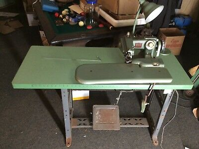 Rex Blind Stitch Industrial Sewing Machine 618-9 With Table, Motor