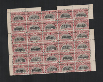 257 Congo Belge Belgium beautiful HCV part sheet MNH Type A