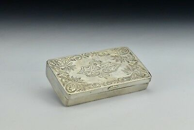 Ottoman Period Turkish Silver Snuff Box with Tughra Hallmarks 2.79 Troy Ounces
