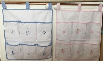 Powell Craft Nursery Cot- 6 Pocket Organiser-can be personalised with name