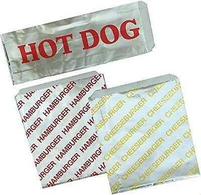 Outside the Box Papers Printed Foil Hamburger, Cheeseburger and Hot Dog Sacks...