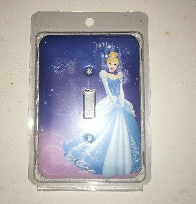 Cinderella Light Switch Cover/Plate Wall Decoration New w/Matching Screws