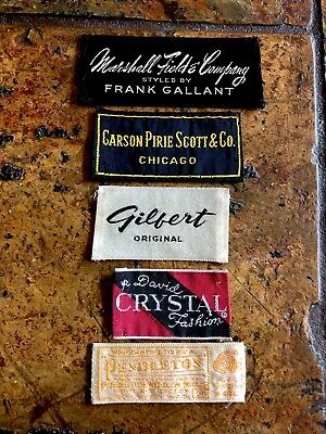 5 DESIGNER CLOTHING LABELS FRANK GALLANT FOR MARSHALL FIELDS CARSONS + 3 More