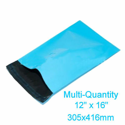 LIGHT BLUE Mailing Postage Parcel Bags 305x415mm Self Seal Recyclable Poly