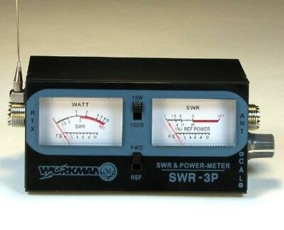 POWER / SWR METER for CB Radio 100 Watts - Dual Meters - Workman SWR3P