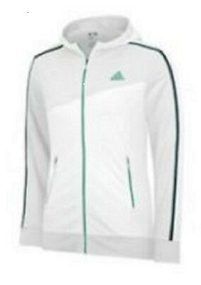 Adidas Climalite Range Wear Hoodie Size Girls Large White w/ Green Msrp: $75.00