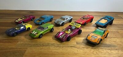 Vintage Matchbox Lesney Car Lot x9 Lamborghini, Mercedes Etc Made In England