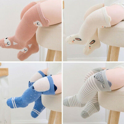 Accessories Cute Infant Cotton Baby Socks Anti-Slip Knee High