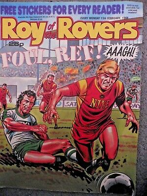Roy Of The Rovers Comic 13/2/1988 Vintage Rare Vgc