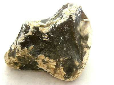 235 Gram rough natural dark massive flint rock fire stone from holy israel