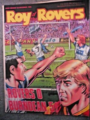 Roy Of The Rovers Comic 3/12/1988 Vintage Rare Vgc