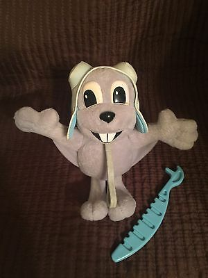 Vintage / Very Old Just Toys Rocky The Flying Squirrel Sling Shot Toy Bendable