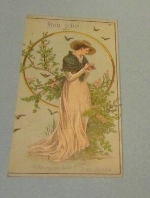 1880's Le Boutillier Bros. Fine Dry Goods Victorian Trade Card Building Shown