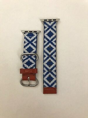 Toms Apple Watch band 38mm, blue and leather