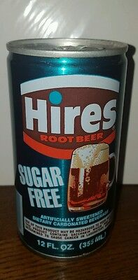 Rare Sugar Free Hires Root Beer-Sample -Display Can-12 oz-Sealed Can-Empty