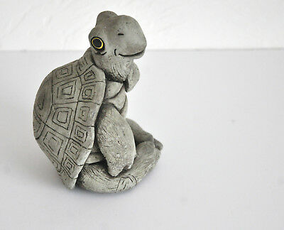 Vintage Stone Turtle Collectible Figurine