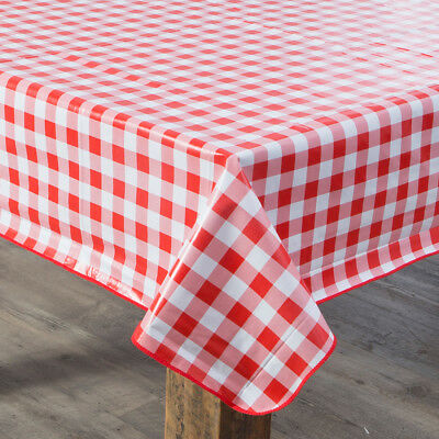 New Aspire Gingham Check Red PVC Table Cloth