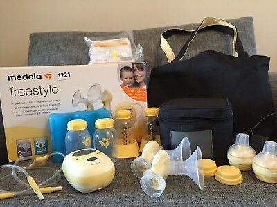 Medela Freestyle Double Electric Breast Pump & Extra Calma Teat