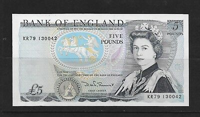 Great Britain 5 Pounds Paper Money Mint See Description (Cc26)