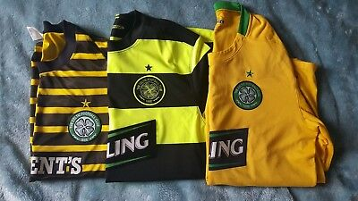3 celtic football shirts size large