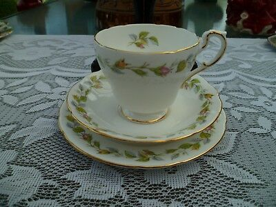 Lovely Vintage Paragon English China Trio Tea Cup Saucer Pink Rose Bud