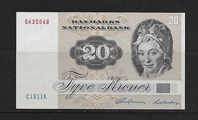 Denmark 20 Krone Paper Money Mint See Description (Cc29)