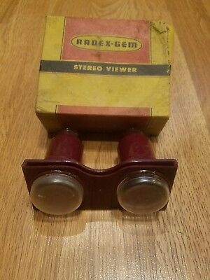 Vintage 1940's Radex - Gem - Stereo Viewer-