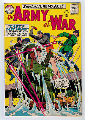 Our Army At War #153 4.0 2Nd Enemy Ace Kubert Art 1965 Ow Pages