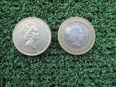 1986 and 1998 Elizabeth II Two Pound British Coin