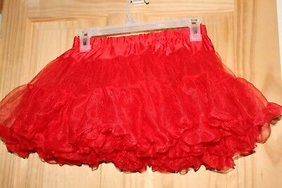 Red petticoat one size fits all (Costume Lolita Cosplay Halloween Theater Dance)