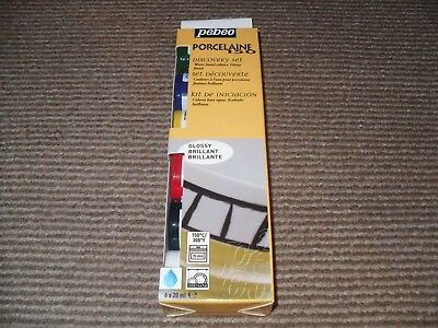 Pebeo Porcelaine 150 Ceramic Paint Discovery Set of 6 x 20ml - Glossy Colours