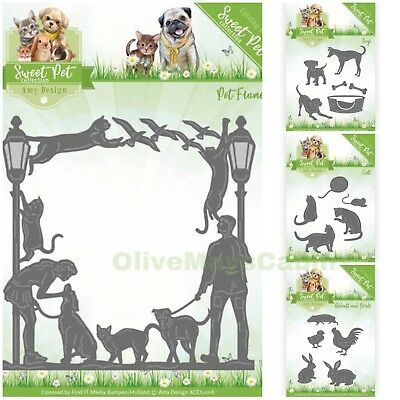 Sweet Pet Die Sets & Frame - Dogs Cats Rodents & Birds      COMPLETE COLLECTION