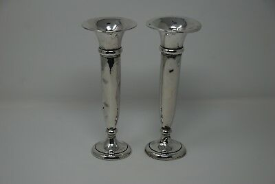 British Art Deco Silver Vases (Charles Perry & Co, 1922)