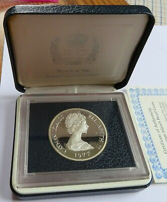 1977 Cayman Islands Proof  $25 Silver Coin with Case and COA, RCM  (161645F)