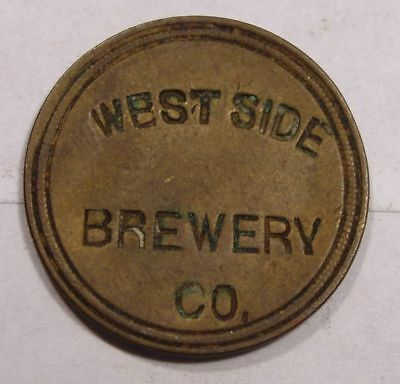 Chicago, Illinois Token.  West Side Brewery Co.  Cook County