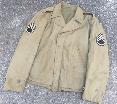 Original WWII US M41 Parsons OD Field Jacket