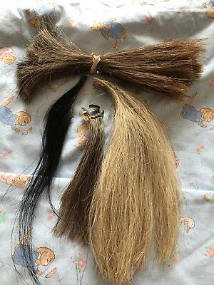 Rocking horse real horse hair mid grey and black