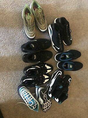 Lot Of 7 Nike Sneakers air max / Griffey's / cb 4 / uptempos size 9