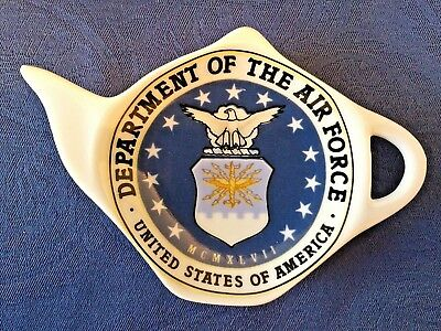 United States Air Force New Handmade Ceramic-Porcelain Tea Bag Spoon Rest Gift