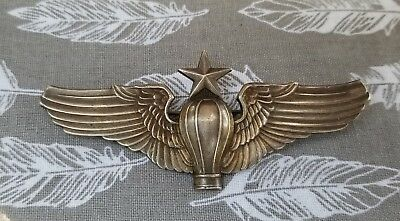 "WW1 to WW2 AAC Army Air Corps 3"" Senior Ballon Pilot Wing Amcraft"