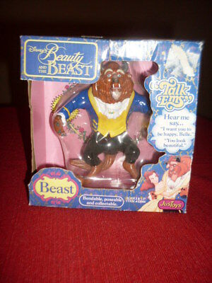 Vintage Disney Beauty and the Beast Talk Ems JusToys BRAND NEW RARE TOY BEAST