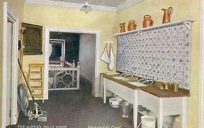 The Queen's Doll's House Housemaids Closet Tuck Oilette Postcard 4504